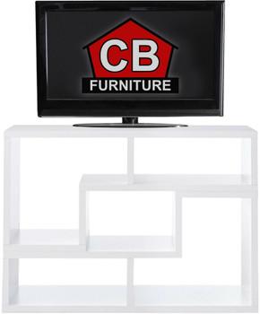 BAI White 47 Inch Wide TV Stand