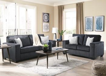 STELLAR Dark Gray Sofa & Loveseat