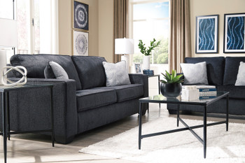 "STELLAR Dark Gray 95"" Wide Sofa"