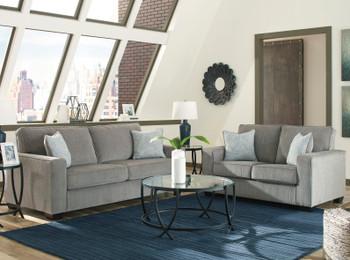 STELLAR Nickel Gray Sofa & Loveseat