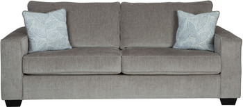 "STELLAR Nickel Gray 95"" Wide Sofa"