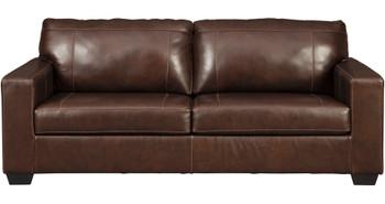 RUIZ Brown 100% Leather Sofa & Loveseat