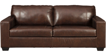RUIZ Brown 100% Leather Sofa & Loveseat