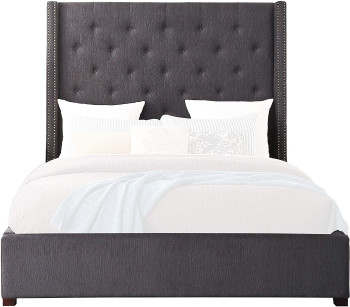 SAMARA Dark Gray Bed