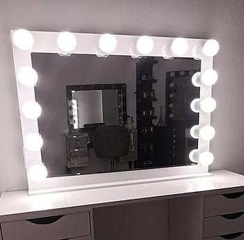 "KAELI White 42"" Wide Vanity Mirror"