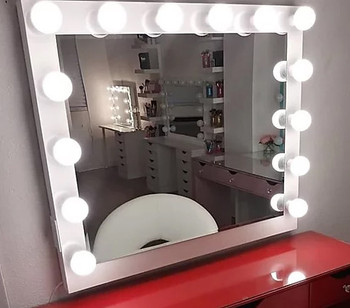"""NULOOK White 43"""" Wide Wall Mirror"""
