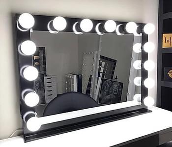 "KAELI Black 42"" Wide Vanity Mirror"