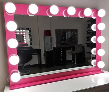 """KAELI Pink 42"""" Wide Vanity Mirror"""