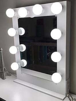 """BRITE White 26"""" Wide Vanity Mirror"""