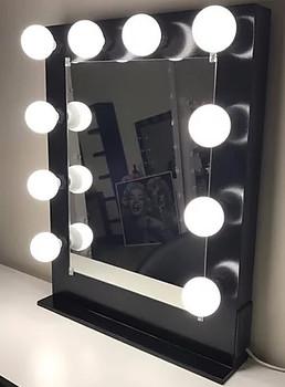 """BRITE Black 26"""" Wide Vanity Mirror"""