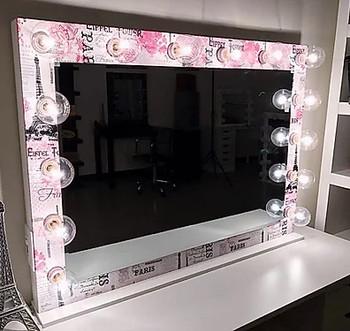 "VOGUE Pink 42"" Wide Vanity Mirror"