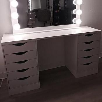 """ELVIRA White 54"""" Wide Vanity Desk"""