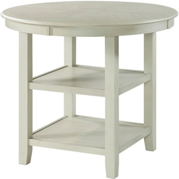 "LABONZ Off-White 42"" Wide Counter Height Table"