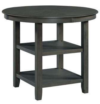 LABONZ Gray 5 Piece Fabric Counter Height Set