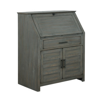 WARREN 35'' Wide Antique Grey Secretary Desk