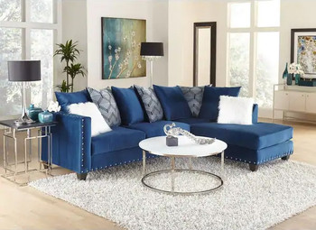 Implosion Blue Sectional