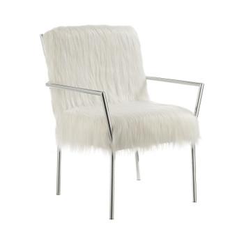 Vicks White Accent Chair
