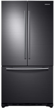 MAZTRA F21 Black Stainless Steel 18 cu. ft. French Door Refrigerator, Counter Depth