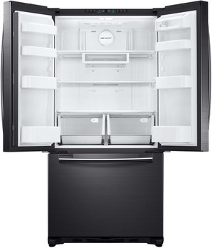 18 cu. ft. French Door Refrigerator in Black Stainless Steel, Counter Depth