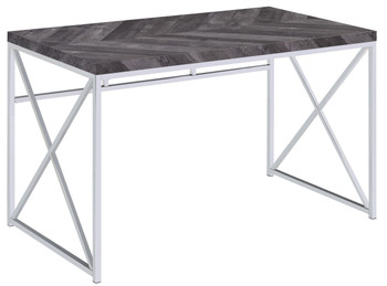 Society Dark Grey Writing Desk