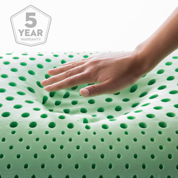 Zoned ActiveDough Peppermint Pillow with Aromatherapy Spray, Mid Loft