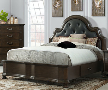 Bria Brown Platform Bedroom Set