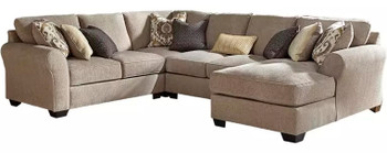 "LAGUNA HEIGHTS Taupe 135"" Wide Sectional"