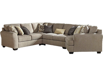 "LAGUNA HEIGHTS Taupe 158"" Wide Sectional"