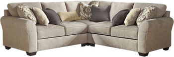 "LAGUNA HEIGHTS Taupe 102"" Wide Sectional"