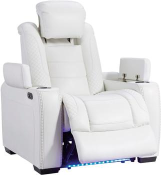 "VIKTOR White 39"" Wide Power Reclining Chair"