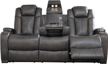 "ERIKSON Gray 82"" Wide Power Reclining Sofa"