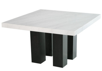 VALERY Marble 7-PC Silver Square Counter Height Set