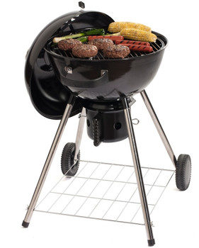 "FIZZLE Black 18"" Kettle Charcoal Grill"