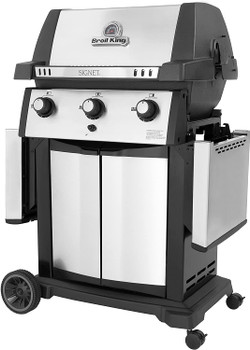Grill 320 XL With Doors Black/Silver Grill