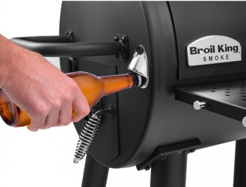 SMOKE XL Black Charcoal Grill with Beer Opener
