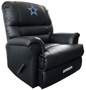 "FULLBACK Dallas Cowboys 37"" Wide Leather Rocker Recliner"