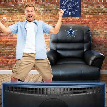 Dallas Cowboys Leather Rocker Recliner