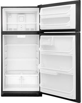 HALLEY T21 Black 18 Cu. Ft. Top Freezer Refrigerator