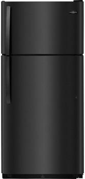 HALLEY F20 Black 18 Cu. Ft. Top Freezer Refrigerator