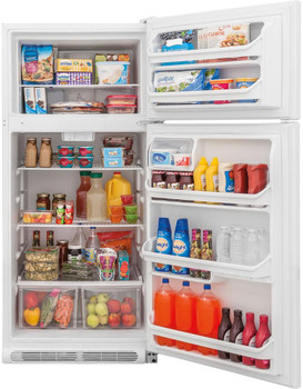 HALLEY F20 White 18 Cu. Ft. Top Freezer Refrigerator