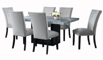 MARIYA Marble Gray 7-PC Dining Set