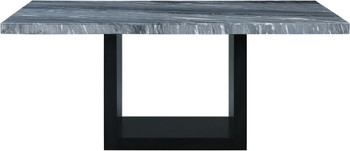 "MARIYA 70"" Wide Gray Marble Dining Table"