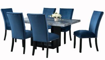 MARIYA Marble Blue 7-PC Dining Set