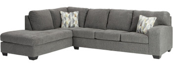 "IVAN Gray 120"" Wide Sectional"