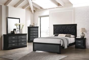 ANITA Black 5 Piece Bedroom