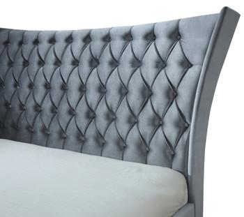 Belline Gray Platform Fabric Bed