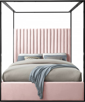 Belleza Pink/Black Canopy Bed