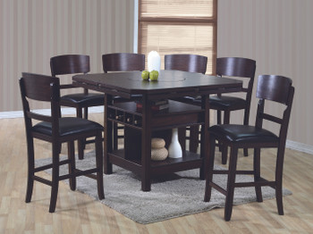 Mana Espresso 5-PC Counter Height Set With Lazy-Susan