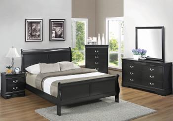 NIMES Black Bedroom Set