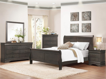 NIMES Gray Bedroom Set